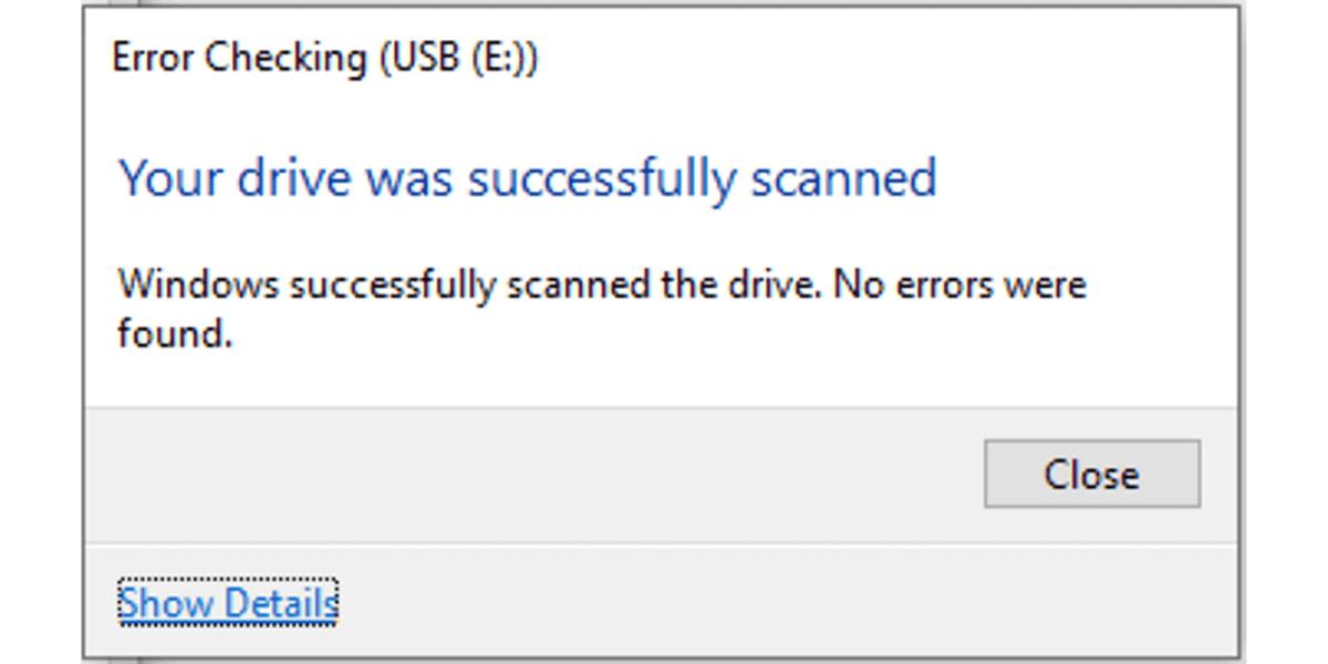 Repair Corrupted USB Drive